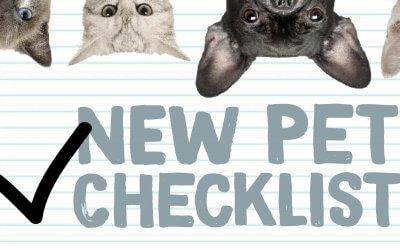 New Pet Tips & Checklist