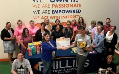Phillips' Employees Donate $2,776 to Peaceable Kingdom