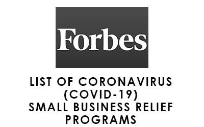 List Of Coronavirus (COVID-19) Small Business Relief Programs