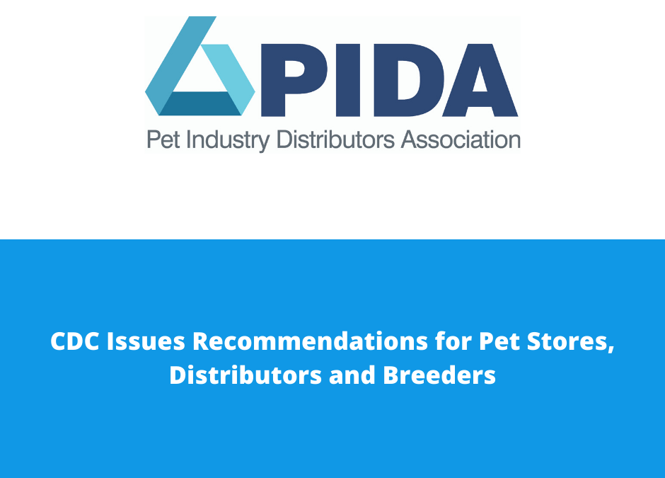 CDC Issues Recommendations for Pet Stores, Distributors and Breeders